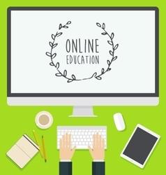 Flat design concept web Online Education trendy vector