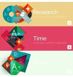 Flat design paper infographic banner set vector image
