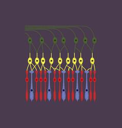 flat shading style icon structure retina vector image