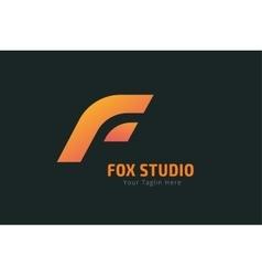 Fox or lion face logo template vector