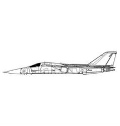 general dynamics f-111 vector image