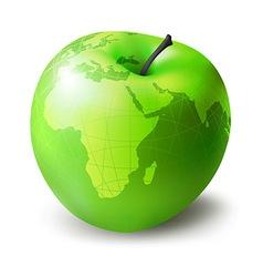 green apple decorative vector image