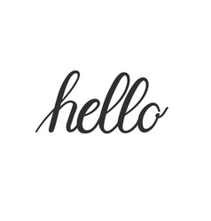Hand-written calligraphy hello word vector