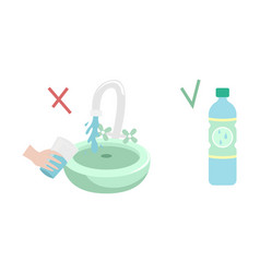 infection with viruses through tap water it is vector image