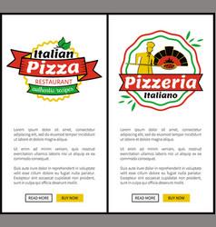 italian pizza restaurant web vector image