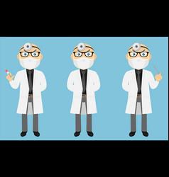 Lab coat doctor set v1b vector