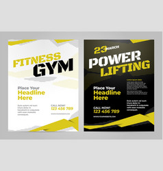 Layout design template for sport vector