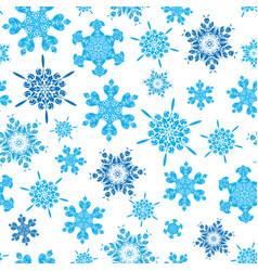 Light blue hand drawn christmass snowflakes vector