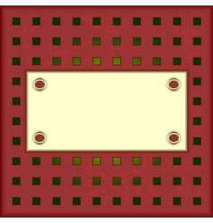 Light panel on a red background vector