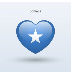 Love Somalia symbol Heart flag icon vector