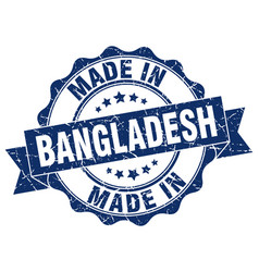 Made in bangladesh round seal vector