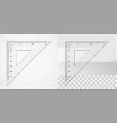 measuring tool triangle ruler 7 cm and 3 inch vector image