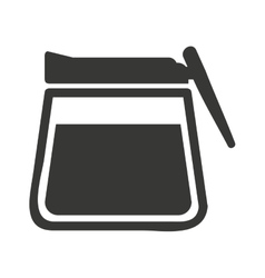 modern teapot isolated icon design vector image