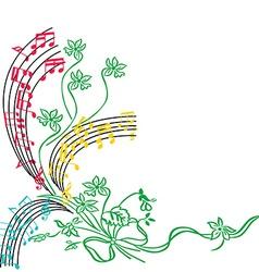 Music notes background stylish musical theme vector image