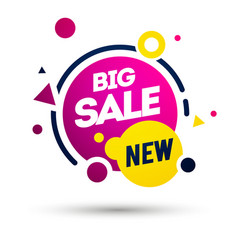 new big sale offer colorful label element vector image
