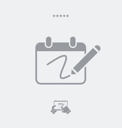 notepad and pen icon vector image
