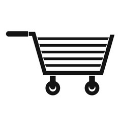 Online shopping icon simple style vector