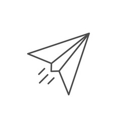 Paper airplane line outline icon vector