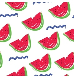 pattern watermelon wave vector image