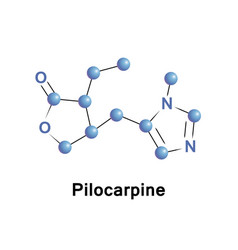 pilocarpine is a medication vector image