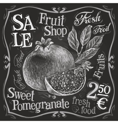 pomegranate logo design template fresh vector image