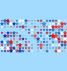 red blue white stars on light blue vector image