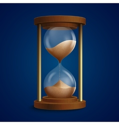 Retro hourglass clock background vector