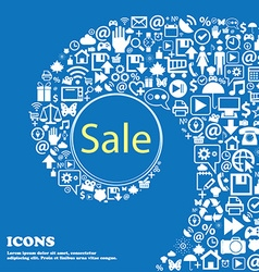 Sale tag Icon for special offer Nice set of vector image