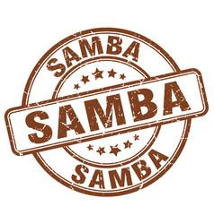 Samba stamp vector