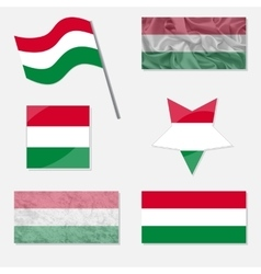 Set with Flags of Hungary vector image