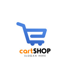 Shopping cart logo design cart icon design vector
