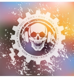 SKULL AND headphone vector image