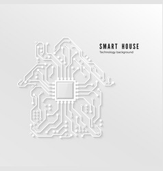 Smart home technology background house vector