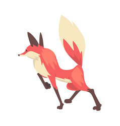 Sneaking red fox character cartoon vector