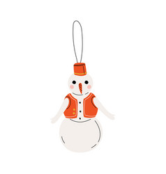 snowman traditional christmas decoration new year vector image