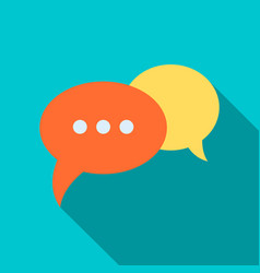 Speech bubbles icon in flat style vector
