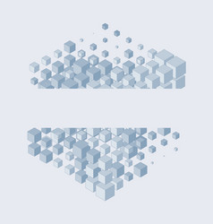 stacking of cubes vector image