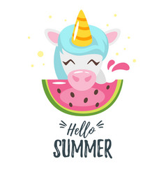 Summer design for season postcard vector