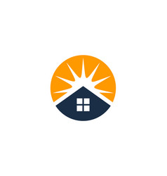 sun house logo icon design vector image