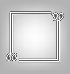 text quote sign pencil sketch imitation vector image