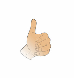 Thumbs-up of a man vector