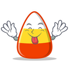 tongue out candy corn character cartoon vector image