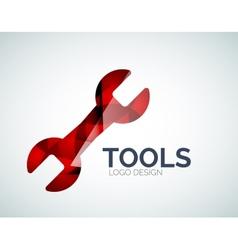 Tools icon logo design made of color pieces vector