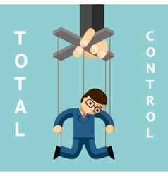 Total control businessman puppet vector