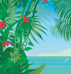Tropic sea vector