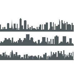 urban landscape city real estate seamless vector image