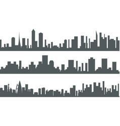 Urban landscape city real estate seamless vector