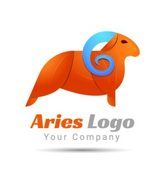 Aries volume logo colorful 3d design corporate vector