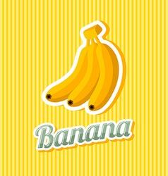 Retro banana vector image vector image