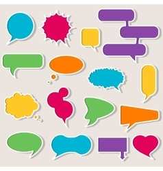 Set of colorful speech bubbles with shadows vector image
